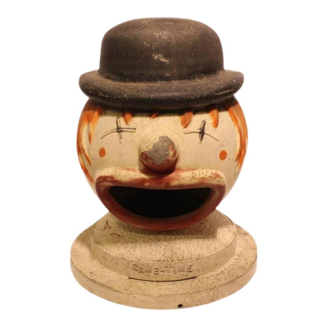 Vintage Carnival Clown Head Game For Sale
