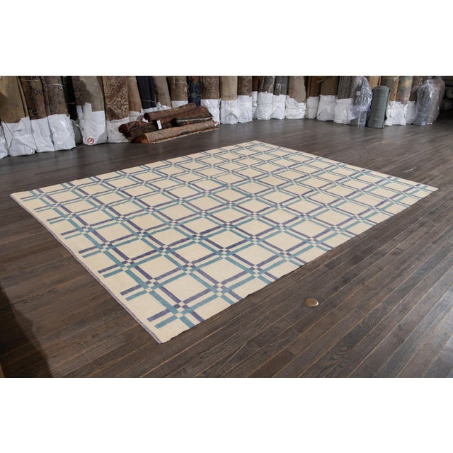 "Textile Apadana Kilim Rug - 9'2"" x 12'1"" For Sale - Image 7 of 9"
