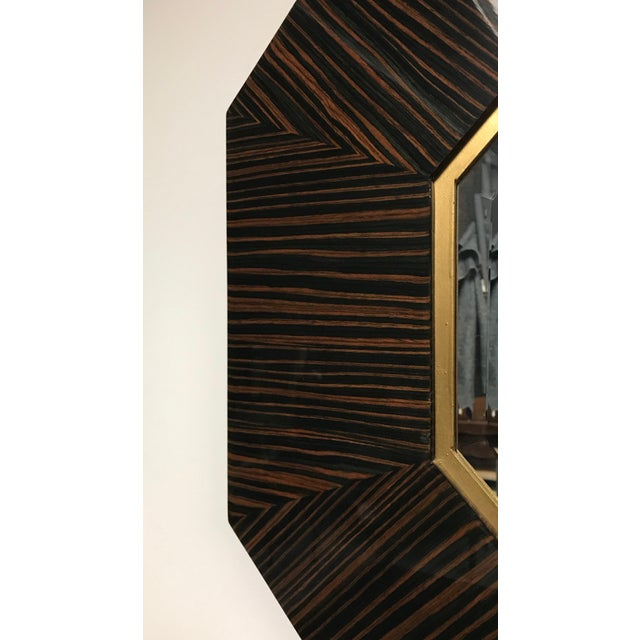 Early 20th Century French Art Deco Macassar Ebony Mirror For Sale - Image 5 of 6