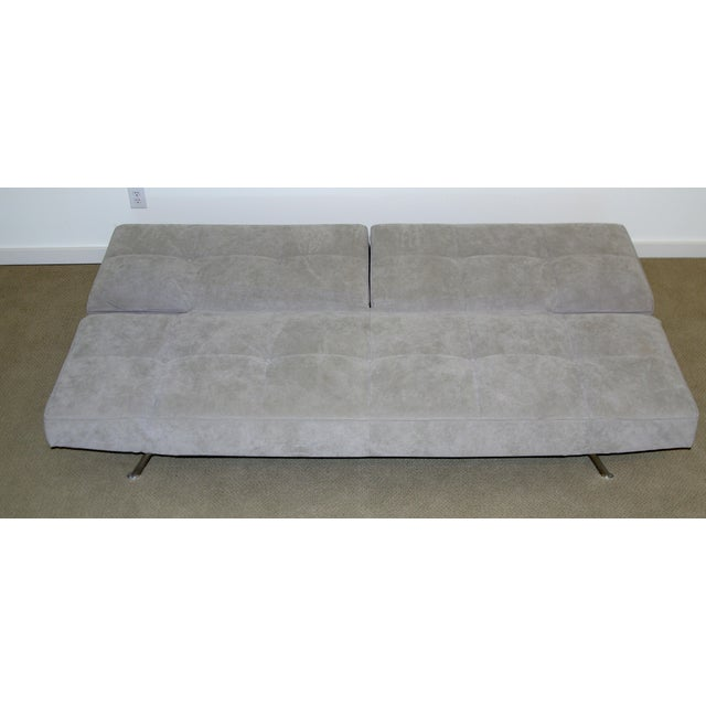 Ligne Roset Smala Sofa in Custom Light Gray Suede For Sale - Image 5 of 10