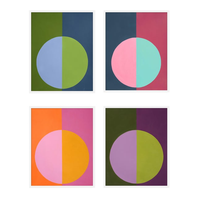 "XL ""Forevers I, Set of 4"" Print by Stephanie Henderson, 50"" X 62"" - Set of 4 For Sale"