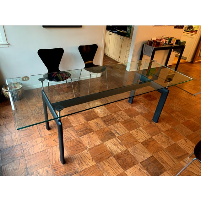 Also know as the Tube d'Avion table, this LC6 table designed by architect Le Corbusier and made by us. Our le Corbusier...