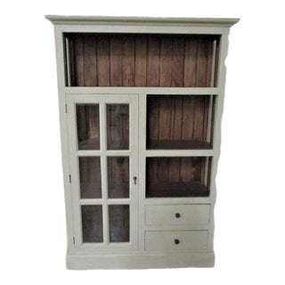 French Country Light Gray Book Case