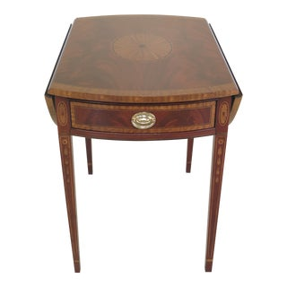 Federal Councill Craftsmen Highly Inlaid Mahogany Pembroke Table For Sale
