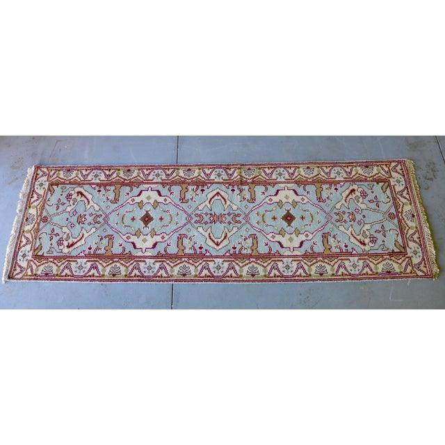"Vintage Handmade Oushak Wool Runner Rug - 2'5"" x 8' - Image 2 of 5"