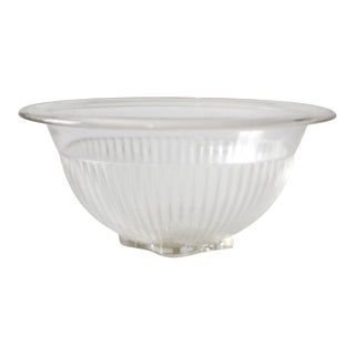 Vintage Federal Ribbed Glass Bowl For Sale