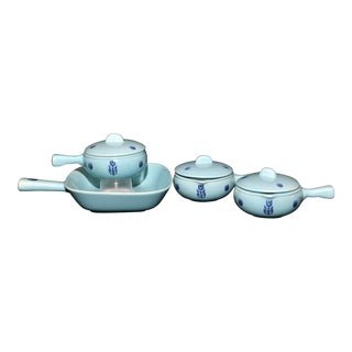 Cronin Blue Tulip Serving Set For Sale