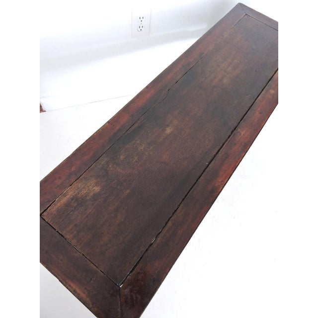 Antique 'Ming' Rosewood Bench For Sale - Image 4 of 6