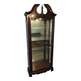 Vintage Mahogany and Glass Display Case For Sale