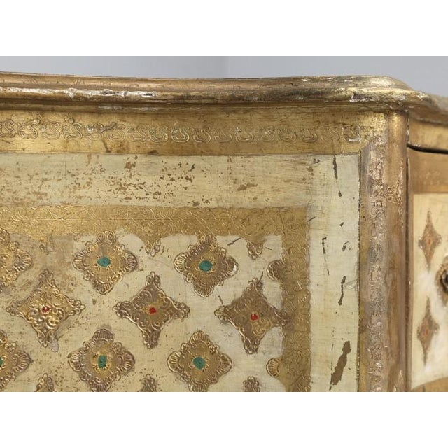 Paint Vintage Italian Commode in Original Paint Gilding For Sale - Image 7 of 13
