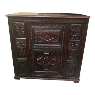 French Antique Carved Buffet Sideboard For Sale