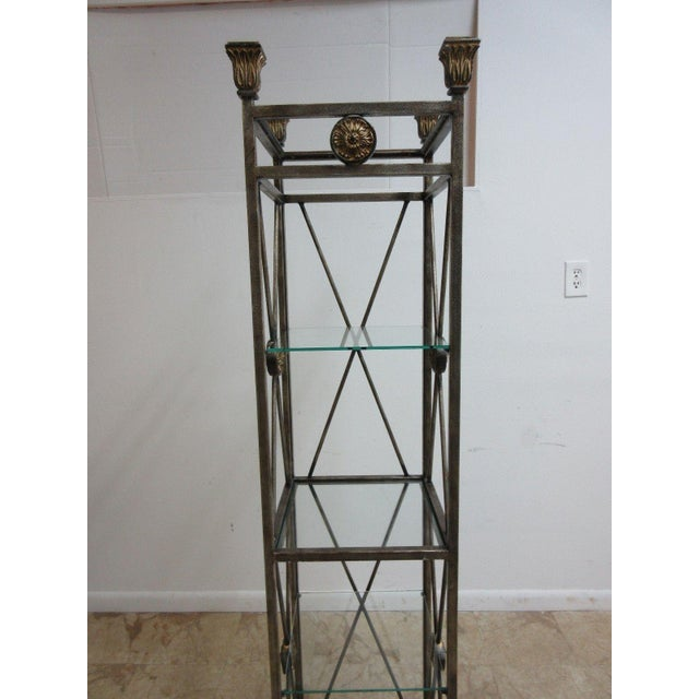 French Maitland Smith Metal French Regency Etagere Shelf For Sale - Image 3 of 10