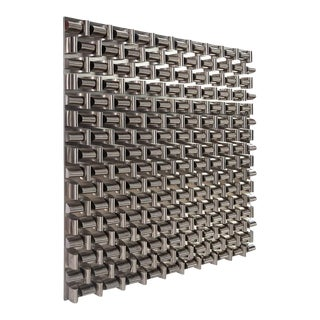 Phillips Collection Arete Wall Panel, Square, Stainless Steel For Sale