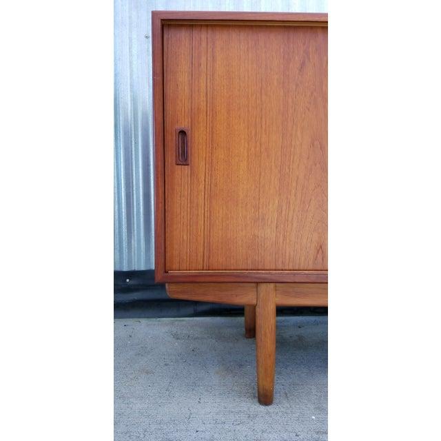 Brown Borge Mogensen Teak Sliding Door Credenza For Sale - Image 8 of 12