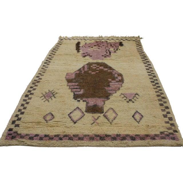 Boho Chic Vintage Berber Moroccan Rug, 5'3x8'7 For Sale - Image 3 of 3