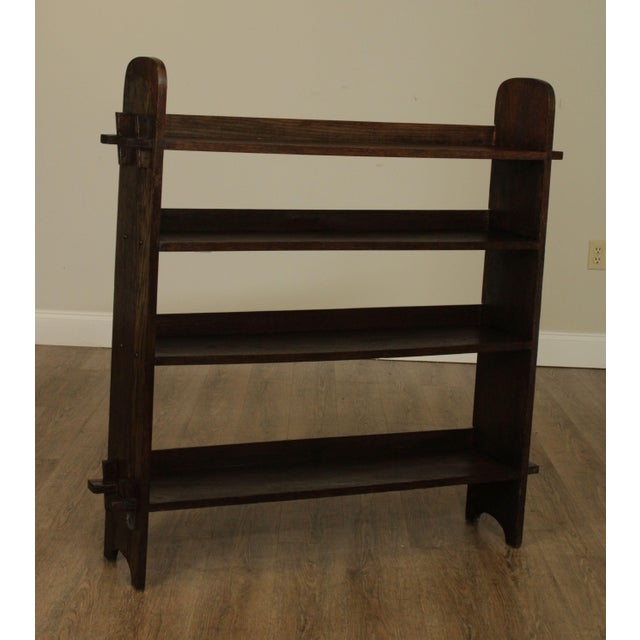 High Quality Antique Solid Oak Arts and Crafts Style Book Case with Keyed Mortise and Tenon Joints Store Item#: 25690