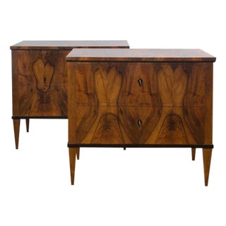 Biedermeier Style Chests - a pair For Sale