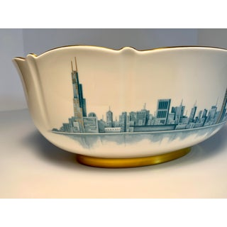 1980s Chicago Skyline Bowl by Pickard China for c.d. Peacock Preview