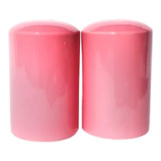 Vintage 1980s Pink Salt & Pepper Shakers For Sale