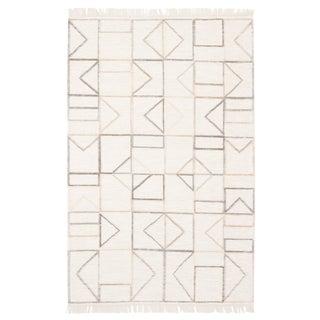 Jaipur Living Circuit Handmade Geometric Ivory & Gray Area Rug - 8' X 11'