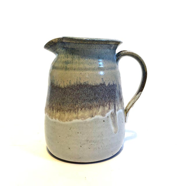 1970s Mid-Century Studio Pottery Stoneware Pitcher For Sale - Image 5 of 5