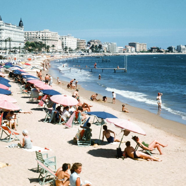 1950s French Riviera Vintage 35mm Film Slide Photograph For Sale - Image 4 of 5