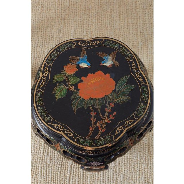 Pair of Polychrome Garden Seats or Drink Tables For Sale - Image 10 of 13