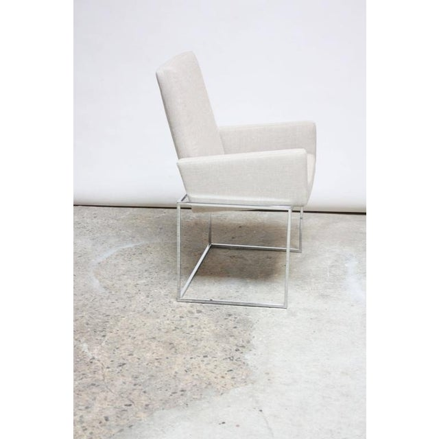 Set of Six Milo Baughman 'Thin Line' Chrome Dining Chairs - Image 6 of 11