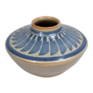 1980s Vintage Southwestern Style Ceramic Vase For Sale