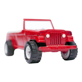 Red Jeep Toy Truck Photograph