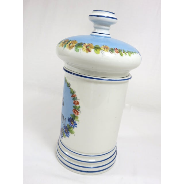 Antique French Porcelaine Apothicary Jar For Sale - Image 4 of 8