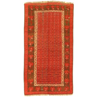 """Late 19th Century Antique Russian Kazak Lambswool Rug - 3′ × 5′8"""" For Sale"""