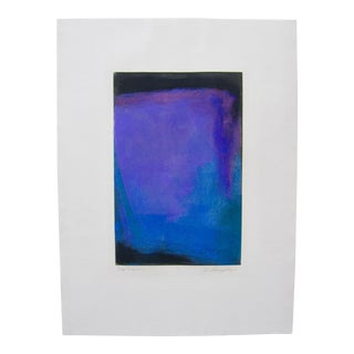 Jo Thompson Signed Monotype Abstract Expressionist Print For Sale