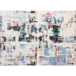 Ned Martin, East River (Vertical Diptych) Paintings, 2018 For Sale