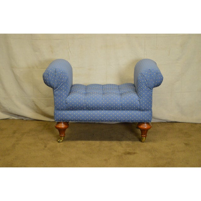 Calico Corners Regency Style Tufted Bench For Sale In Philadelphia - Image 6 of 10