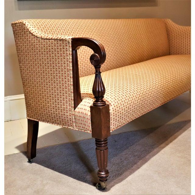 Sheraton Scroll Arm Sofa, Circa:1815, New England For Sale In Washington DC - Image 6 of 9