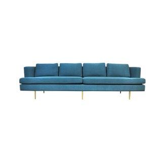 Dunbar Brass Legged Sofa by Edward Wormley For Sale