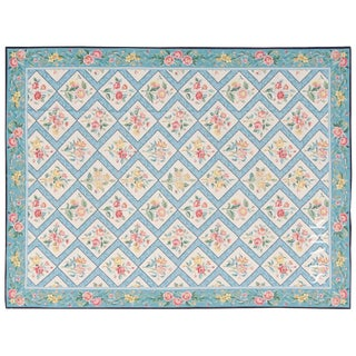 Stark Studio Rugs Traditional Chinese Needlepoint Wool Rug - 6′ × 9′4″ For Sale