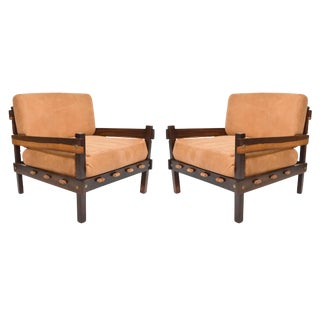 Mid-Century Modern Brazilian Rosewood Armchairs - a Pair For Sale