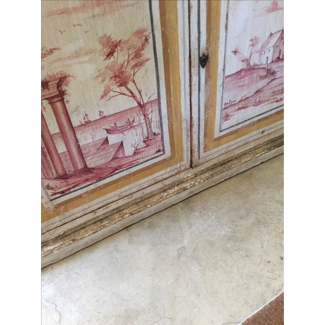 Antique Italian Painted Credenza - Image 6 of 8