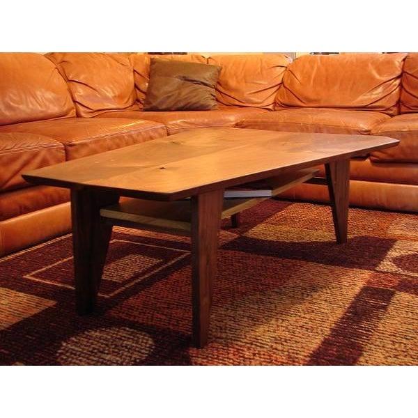Mid Century Modern Walnut Slab Coffee Table - Image 2 of 7