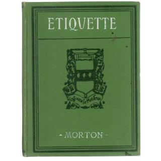 """""""Etiquette"""" 1919 Book"""
