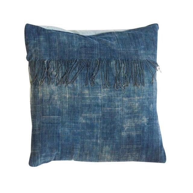 African Indigo Floor Pillow For Sale