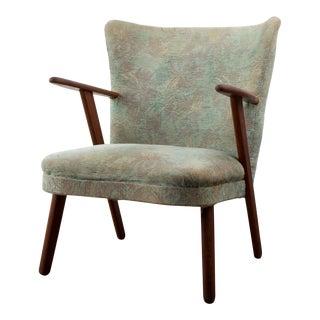 1940s Fritz Hansen Danish Mid-Century Teak Easy Chair
