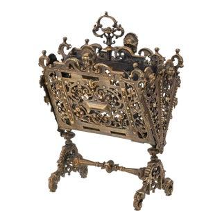 Letter Holder, Antique Gilt Bronze For Sale