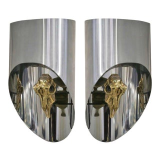 Maria Pergay Pair of Sconces For Sale