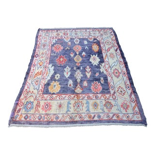 'Vyolette' Turkish Oushak Runner - 5′4″ × 6′ For Sale