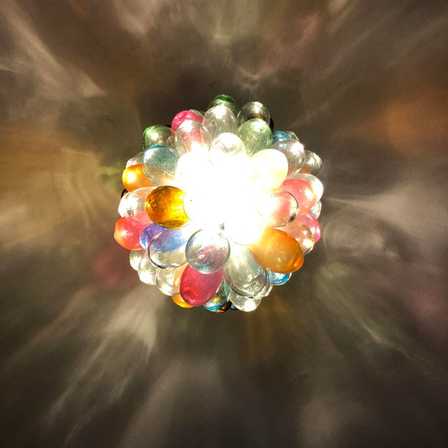 Stained Hand-Blown Glass Colorful Light Fixture For Sale - Image 9 of 12