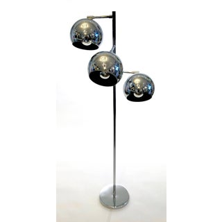 Three-Light Chrome Floor Lamp Preview