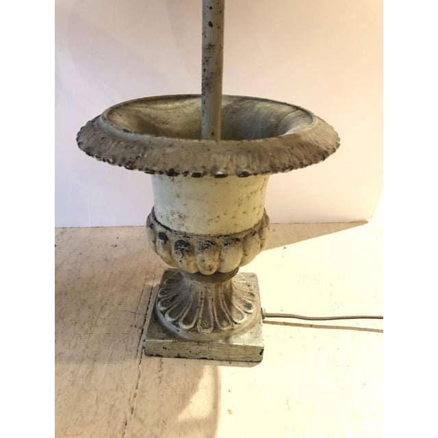 Iron Garden Urn Table Lamps - a Pair For Sale - Image 4 of 13
